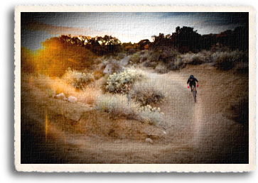 The majestic scenery of the high desert and Southern Rocky Mountains is close up and personal on mountain biking trails throughout Northern New Mexico